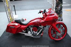 #red custom motorcycle at #SEMA 2012
