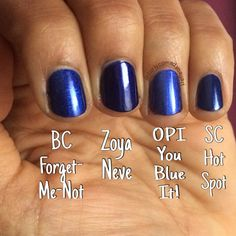Bonita Colors Winter 2015 Forget Me Not collection and comparisons