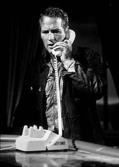 paul newman on the phone