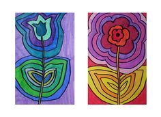 Hot cool colors. Echo flowers.