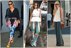 printed pants trend   The Daily Batch I love these printed trousers with the peplum blouse! Must have!