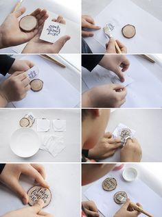 Diy key ring with wooden slices - Diy key ring with sliced wood Wood Burning Crafts, Wood Crafts, Diy And Crafts, Diy Wedding, Wedding Gifts, Wooden Slices, Jw Gifts, Cool Diy, Wood Art
