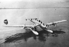 Blohm & Voss Ha 139 was a German all-metal inverted gull wing floatplane. With its four engines it was at the time one of the largest float-equipped seaplanes that had been built. Initially designed as mail/cargo aircraft for Deutche Lufthansa, on the outbreak of World War II, the planes were transferred to Luftwaffe and used for transport, reconnaissance and minesweeping work over the Baltic Sea.