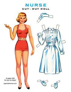 Paper doll Nurse