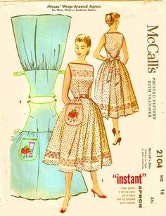 Vintage double wrap apron dress like Walkaway от Remaginative