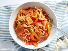 Three Pepper Pasta with Crispy Pepperoni - Budget Bytes