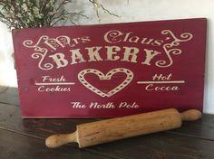 Mrs Claus Bakery Kitchen Christmas Sign by Reclaimedjewelsdecor