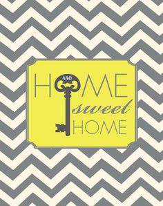 Welcome Sign  Home Sweet Home  Skelton Key with Your by Freshline, $18.95