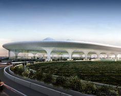New International Terminal in Mumbai, India.  Cleaning system by Cradle Runways.