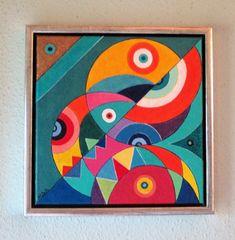 Love Painting, Fabric Painting, Art Sub Plans, Handmade Wall Clocks, Circle Art, Modern Art Paintings, Folk Art, Abstract Art, Illustration Art