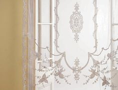 Victorian lace Sheer Net Curtain Panel ***