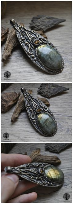 Eartha Creations handmade jewelry. Fantasy & unique design and stones! #jewelry #handmade #unique #fantasy #moon  #labradorite #spiritual #spirit #ooak #medieval #magical