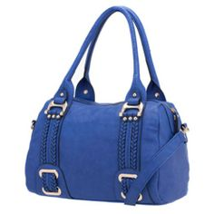 Melie Bianco Francine Braided Trim Handbag (Blue) Melie Bianco, To SEE or BUY just CLICK on AMAZON right here http://www.amazon.com/dp/B00979O6ZK/ref=cm_sw_r_pi_dp_KAVytb0X32JHB4RW