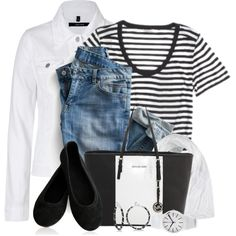 A fashion look from August 2014 featuring Club Monaco t-shirts, J Brand jackets and MICHAEL Michael Kors tote bags. Browse and shop related looks.