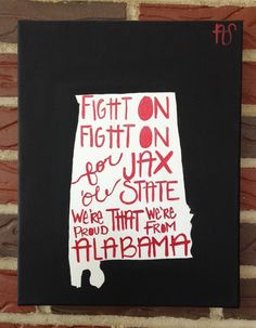 JSU Fight Song Hand made Acrylic Painting by AshanArt on Etsy