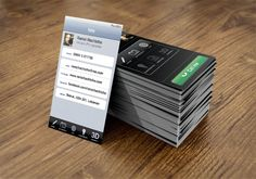 Iphone Business card by Ramzi Hachicho, via Behance