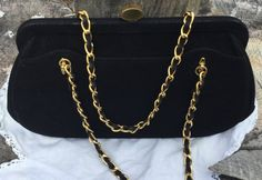 #Vintage Black suede purse by Mayer. #vintagepurse #purselover #accessories https://www.etsy.com/listing/516237515/vintage-black-suede-top-handle-purse?ref=shop_home_active_1