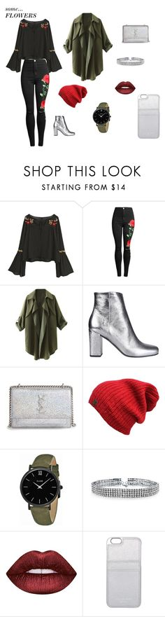 """""""#flowers#street.look?/2"""" by juliefashionz on Polyvore featuring moda, Yves Saint Laurent, CLUSE, Bling Jewelry, Lime Crime i MICHAEL Michael Kors"""
