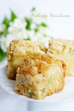 Baking Recipes, Cake Recipes, Polish Recipes, Polish Food, Apple Cake, Pavlova, Coffee Cake, No Bake Cake, Macaroni And Cheese