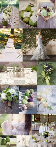 Lavender pairs perfectly with pear green. These soft, muted shades are classic and elegant, while the surprising color combination keeps this wedding modern