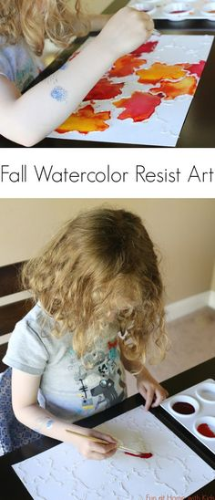 Fall-Inspired Watercolor Resist Art | 18 Easy DIY Art Projects You Can Make With Watercolors
