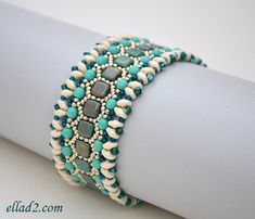 Beading Tutorial Honeycomb Bracelet Beading pattern PDF by Ellad2