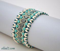 Beading Tutorial Honeycomb Bracelet Beading pattern PDF by Ellad2