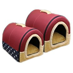 DK Cozy 2in1 Pet house and Sofa NonSlip Dog Cat Igloo Beds 3SizeRed Large *** Click image to review more details.