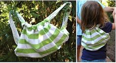 Make your own backpack from an old t-shirt