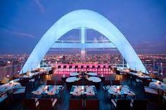 Fantastic view from Red sky rooftop bar @ The Centara Grand skyscraper, Bangkok