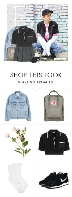 """""""Chanyeol: i totally would... but im sleepy."""" by yxing ❤ liked on Polyvore featuring Fjällräven, OKA, Miu Miu, Hue, NIKE, country, Tag, kpop, EXO and chanyeol"""