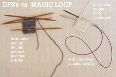 Magic Loop Technique – how to knit in the round using a single long circular needle | Tin Can Knits | Bloglovin'