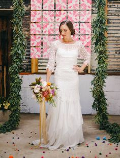 Industrial Playground Styled Shoot in San Diego California || Photos by Jack & Hannah Film & Photography || Florals by Native Poppy || Design by Rachel LaBarre || Dress- Saint Isabel
