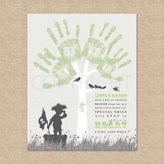 My Daddy or Grandpa\\\'s Hand Print Hands Prints Gift Ideas