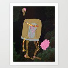 Silence Walks Art Print by David Nuh Omar - $22.88
