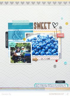 scrapbook layout by #geralynsy using #studiocalico Marks & Co. #monthlykit