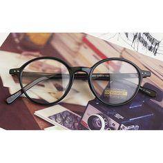 1920s Vintage Round oliver retro classic eyeglasses 6051 black leopard frames