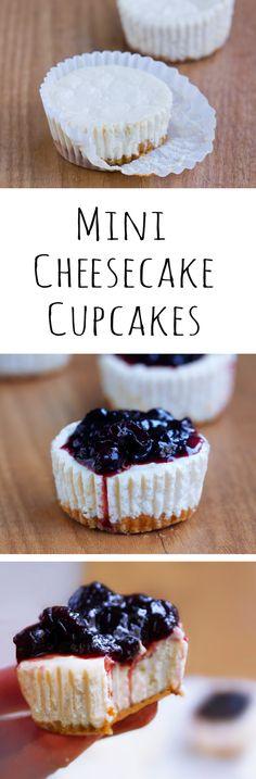 Cheesecake Cupcakes - Ingredients: 12 oz cream cheese, 1 cup yogurt, 1 tsp vanilla extract, 2 1/2 tbsp... Full recipe: http://chocolatecoveredkatie.com @choccoveredkt