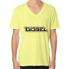 Di3seL Logo(Red Variant) V-Neck (on man) Shirt