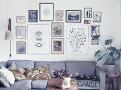 Art wall in my livingroom