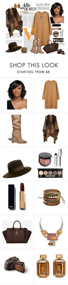 """""""Sem título #4367"""" by mr-1 ❤ liked on Polyvore featuring WithChic, Gianvito Rossi, Maison Michel, Bobbi Brown Cosmetics, Erica Lyons and Yves Saint Laurent"""