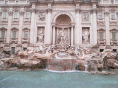 The famous Fontana di Trevi! A fountain in Rome that is also the largest baroque fountain in the world! A legend claims that if visitors throw a coin into the fountain that they will one day return to Rome! Rome Tours, Italy Tours, Rome Travel, Italy Travel, Travel Europe, Italy Vacation, Travel Destinations, Pantheon Roma, Free Things To Do In Rome