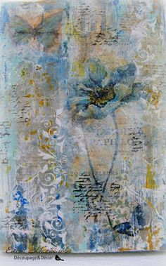 Collage Art Mixed Media, Mixed Media Canvas, Collage Collage, Multimedia Arts, Collage Techniques, Encaustic Art, Abstract Flowers, Art Journal Inspiration, Art Journal Pages