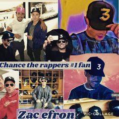 """Zac Efron is a HUGE fan of """"Chance the Rapper""""! ❤️ love you guys!"""