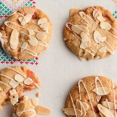Love Bakewell Tart? Well try these easy Bakewell Biscuits from Miranda Gore Browne. Sweet with almond and cherry, these chunky biscuits are sure to become a family favourite.