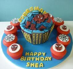 Spiderman Giant Cupcake