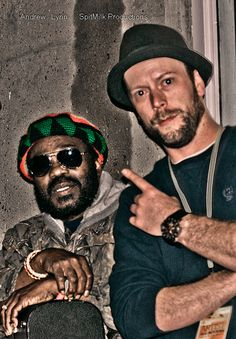 Nathan Richards of Open Sky Music Festival 2012 with the original member of the Wailers     @Spitmilk by SpitMilk Productions Canada, via Flickr
