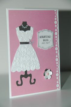 Geburtstagskarte mit Stampin Up Kleid / Stampin Up birthday card