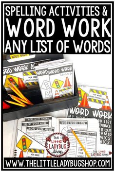 You will love using this bundle of Print & Go Spelling & Word Work Center Activities for any list of words you're teaching or Vocabulary programs. Easily fits in Literacy Centers, small group, or homework! You will definitely enjoy having everything you need in this packet! You just print and use activities for any word list! Perfect for 2nd grade, 3rd grade, 4th Grade and home schooling. #spellingworksheets #wordworkcenters