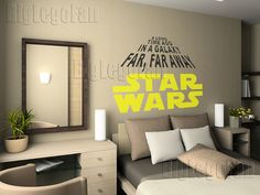 Wall Decals  Two color Star Wars Logo with by WallStickyDecal, $26.99